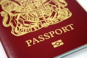 British Passport with Microchip
