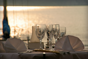 Cena sul catamarano